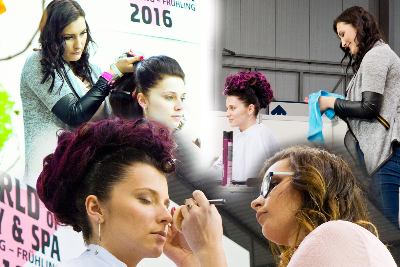 Renáta Martinková a Nikol Mruštíková z týmu č. 5 mne zaujaly skvělou barveností účesu a make-upu.