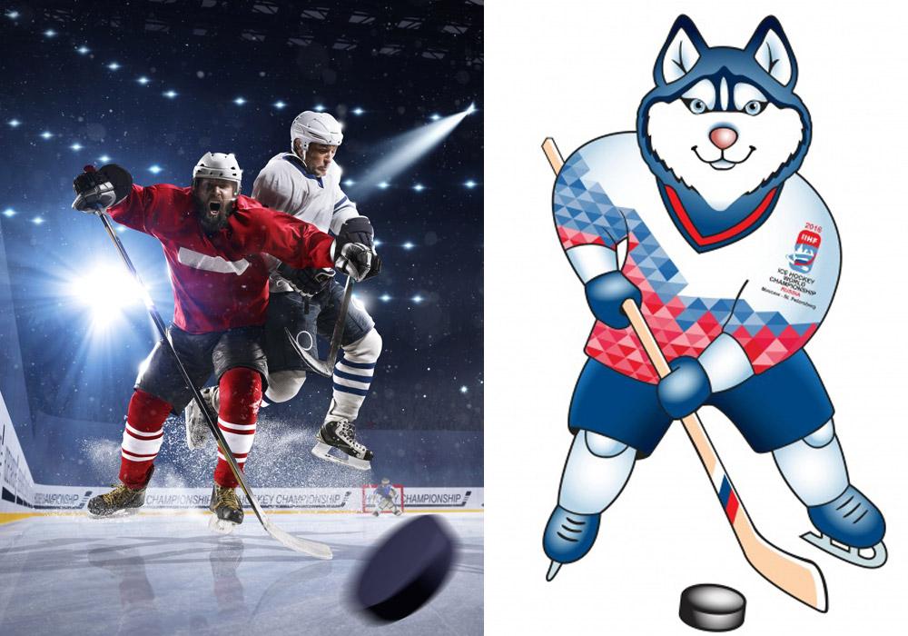 Laika je maskotem, který bude bavit diváky 80. MS v hokeji 2016, které se konají od 6. 5. do 22. 5. 2016. (Ilustrační obrázek)