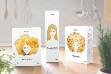 Účesy z těstovin? Proč ne! Vytvořil je ruský designér Nikita Konkin a se svým skvělým nápadem obalu na těstoviny dobývá svět!