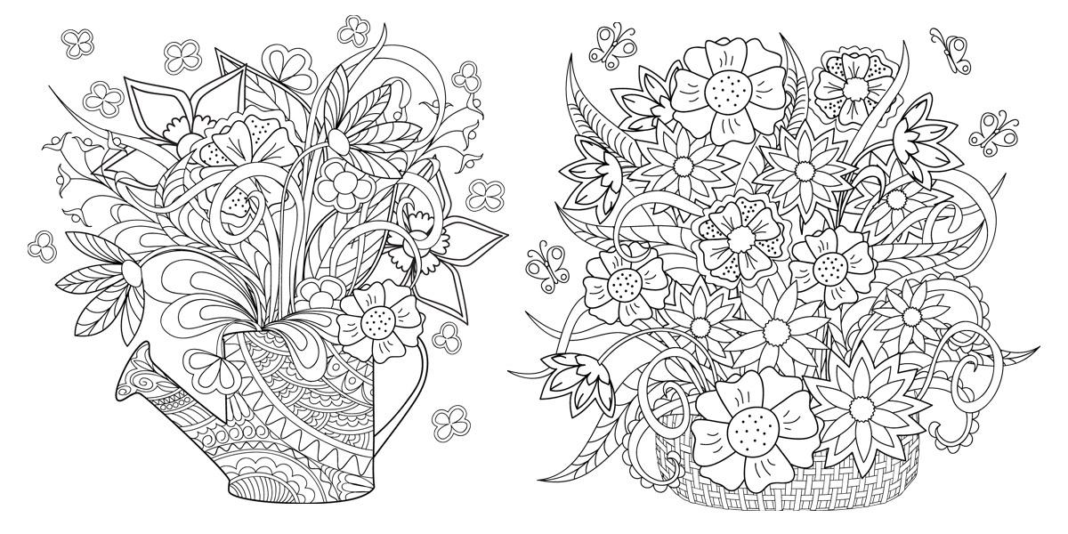 Květiny a zahrady – vybarvěte si je proti stresu!