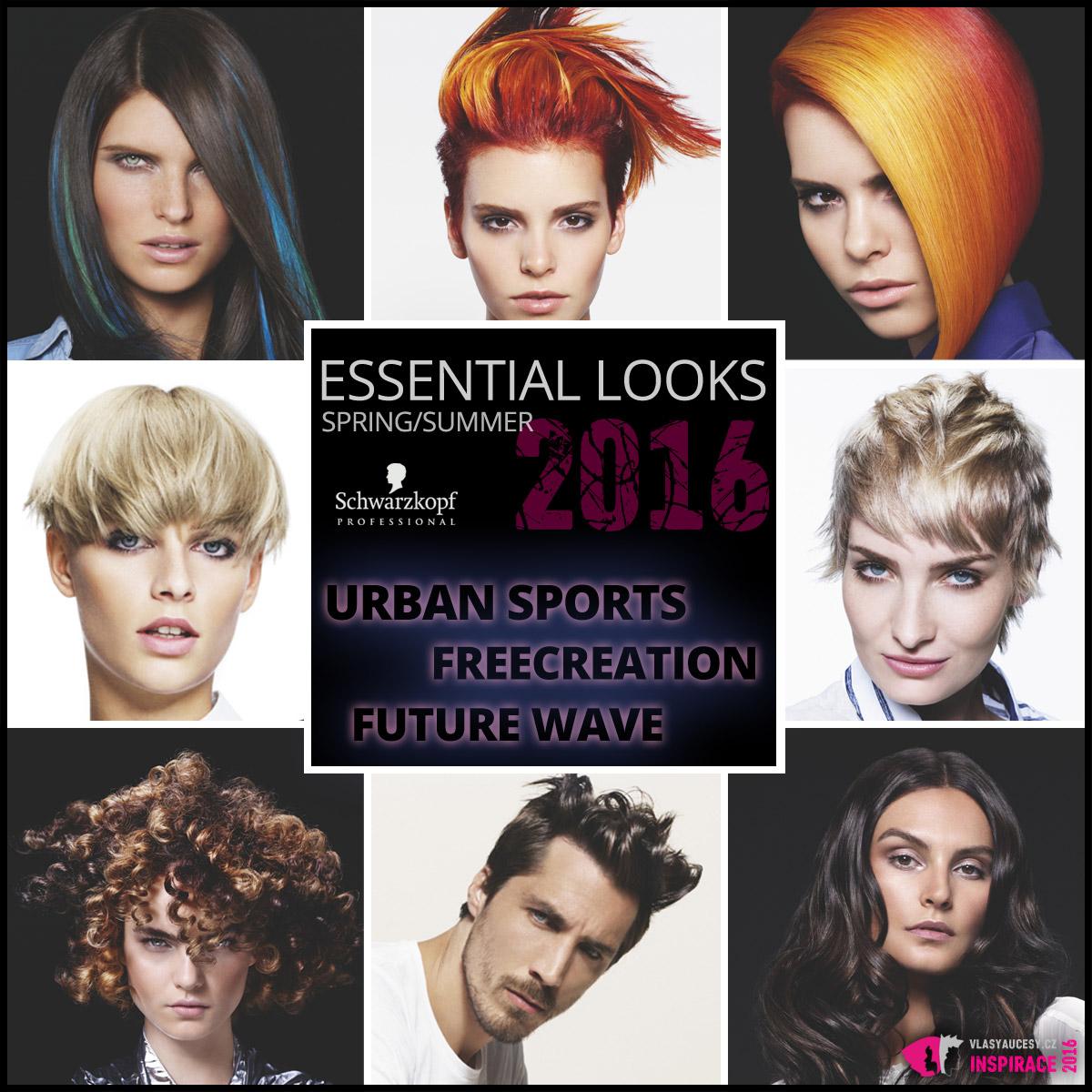 Schwarzkopf Professional představuje své jarní účesy 2016 v kolekci Essential Looks Made to Create – S/S 2016.
