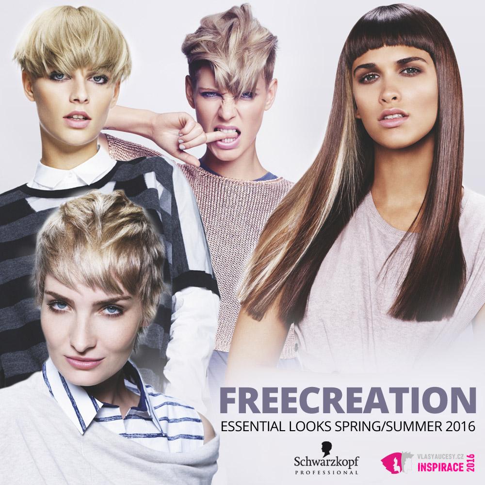 Schwarzkopf Professional představuje účesy pro jaro a léto 2016 v kolekci Essential Looks S/S 2016 – Freecreation.