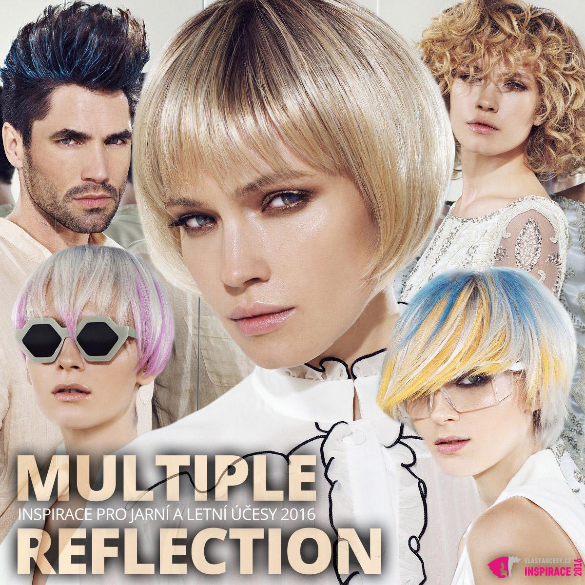 Inspirace pro jarní a letní účesy 2016 podle Gandini – kolekce Multiple reflection.