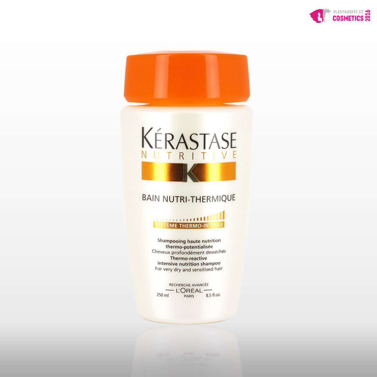 """Šampony Kérastase pro suché vlasy: <a href=""""http://www.anrdoezrs.net/click-7863143-12225550-1438331618000?url=http%3A%2F%2Fwww.parfums.cz%2Fkerastase%2Fnutritive-termoaktivni-sampon-pro-velmi-suche-a-citlive-vlasy%2F&cjsku=KERNUTW_KSHA10"""" target=""""_blank""""> Kérastase Nutritive termoaktivní šampon pro velmi suché a citlivé vlasy, cena od 477 Kč. </a>"""