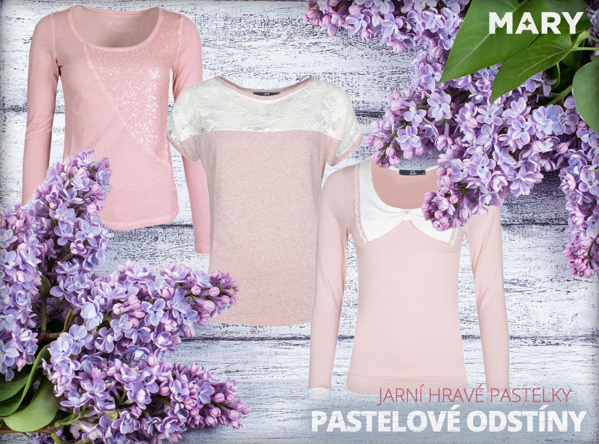 Pastelové odstíny módě svědčí. Letos na jaře porazí pastely i výrazné odstíny barev. (Oblečení na obrázcích koupíte v e-shopu Mary-fashion.cz.)