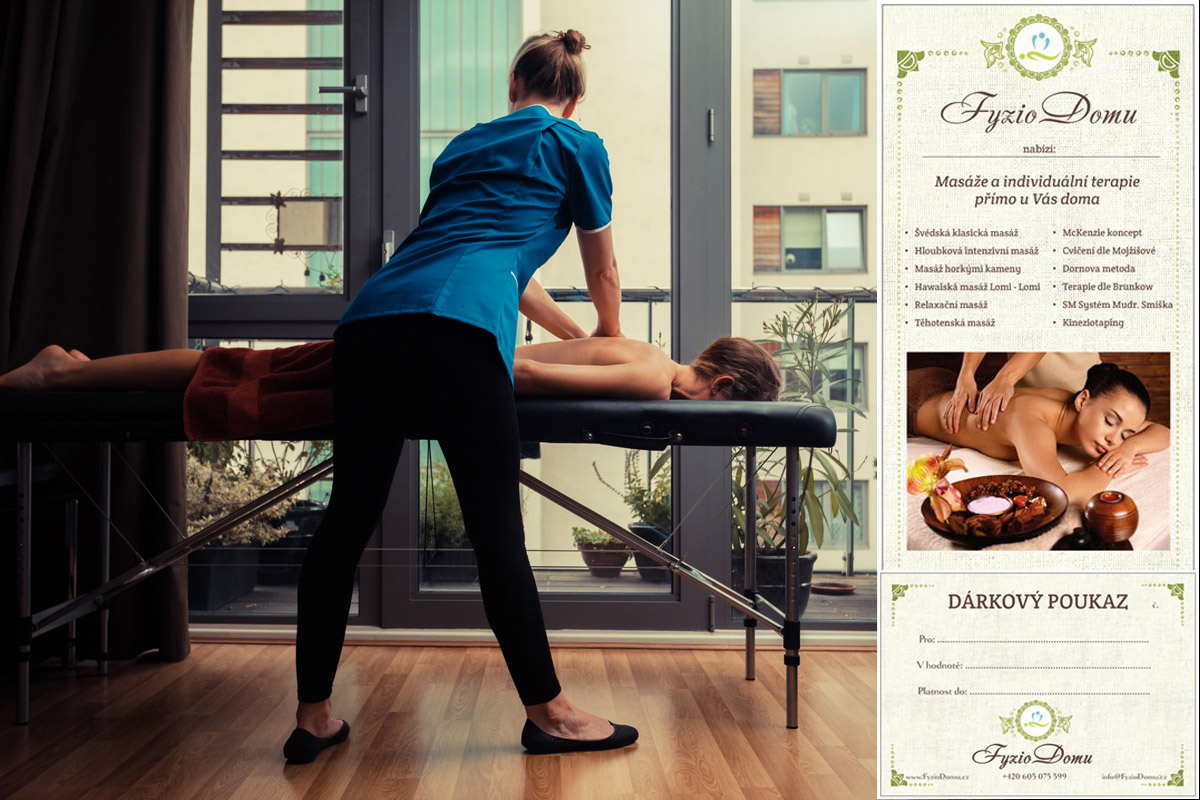 Masáž v Praze jako dárek – věnujte profesionální masáž až do domu.