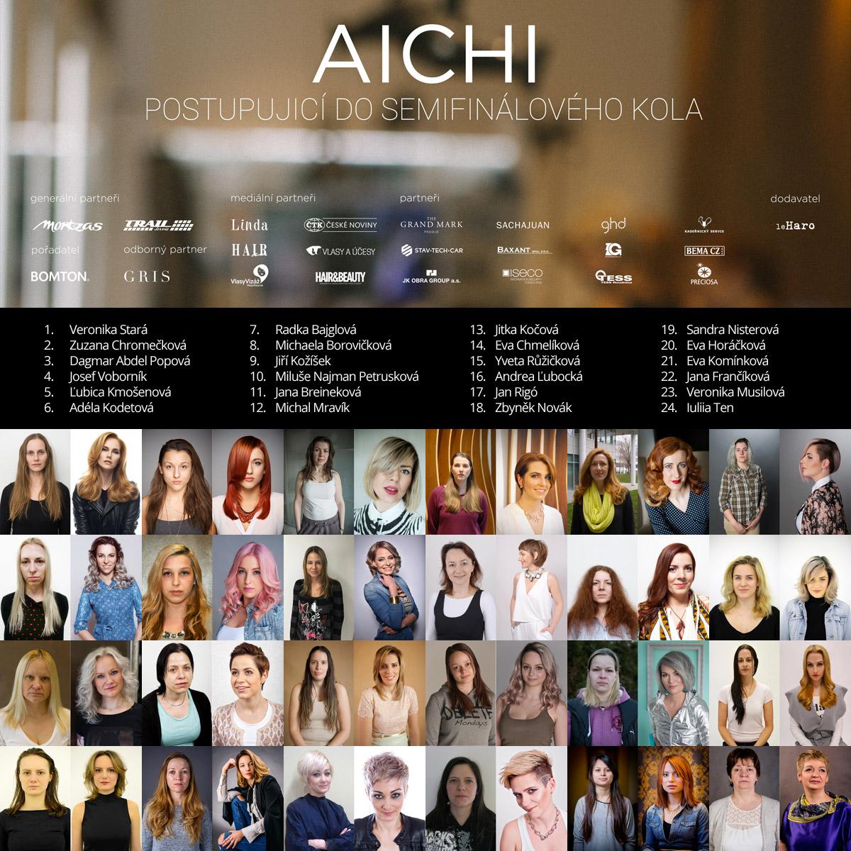 První kadeřnické proměny AICHI 2016 – výběrové kolo představuje 24 finalistů.