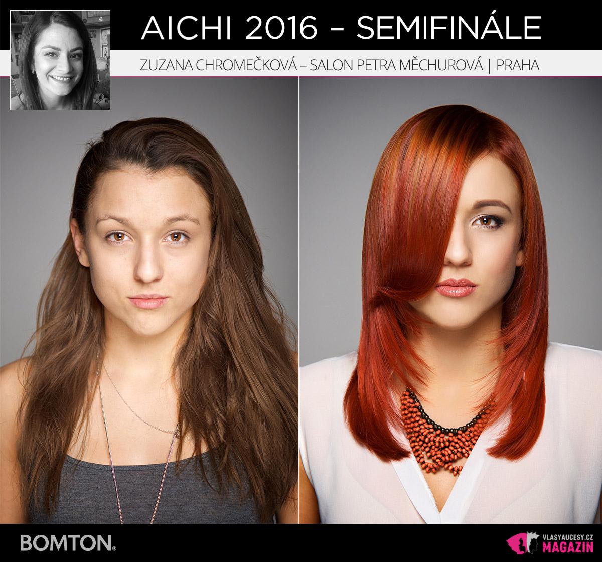 Zuzana Chromečková – Salon Petra Měchurová, Praha | Proměny AICHI 2016 - postupující do semifinálového kola