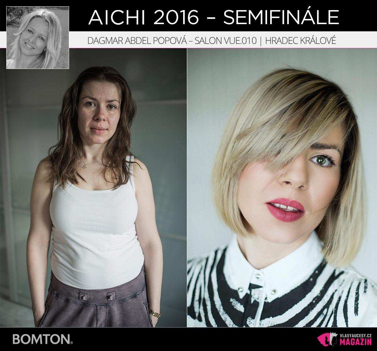 Nominační proměna AICHI 2016: Dagmar Abdel Popová, Salon VUE.010, Hradec Králové