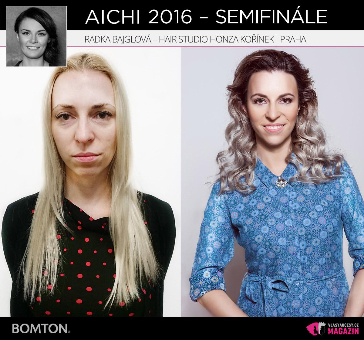 Nominační proměna AICHI 2016: Radka Bajglová, Hair studio Honza Kořínek, Praha