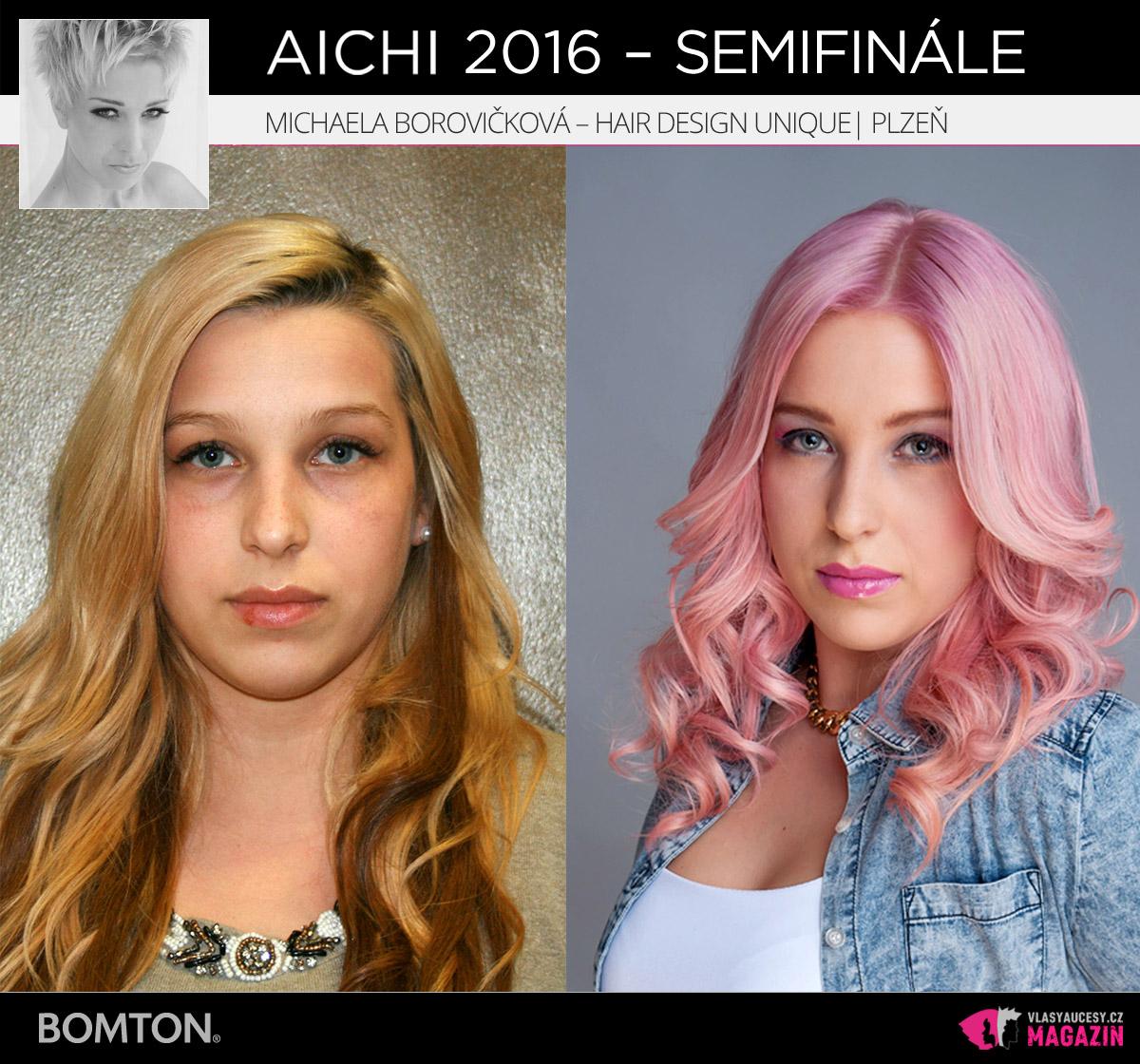 Michaela Borovičková – Hair Design Unique, Plzeň | Proměny AICHI 2016 - postupující do semifinálového kola