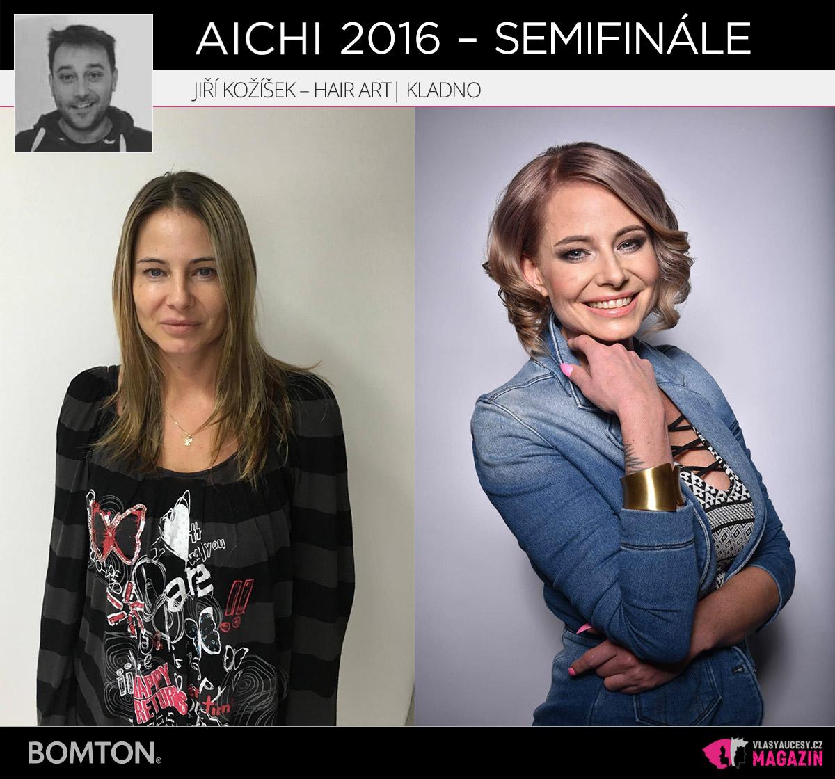 Nominační proměna AICHI 2016: Jiří Kožíšek, Hair Art Jiří Kožíšek, Kladno