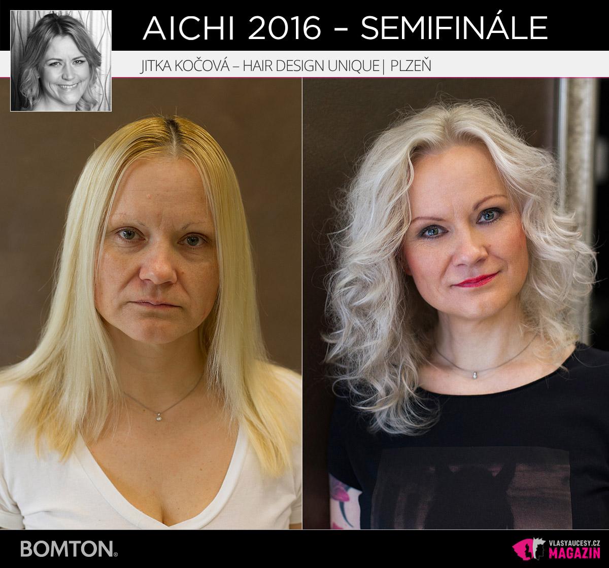 Nominační proměna AICHI 2016: Jitka Kočová, Hair Design Unique, Plzeň