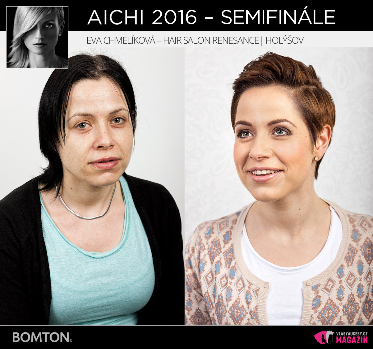 Eva Chmelíková – Hair Salon Renesance, Holýšov | Proměny AICHI 2016 - postupující do semifinálového kola