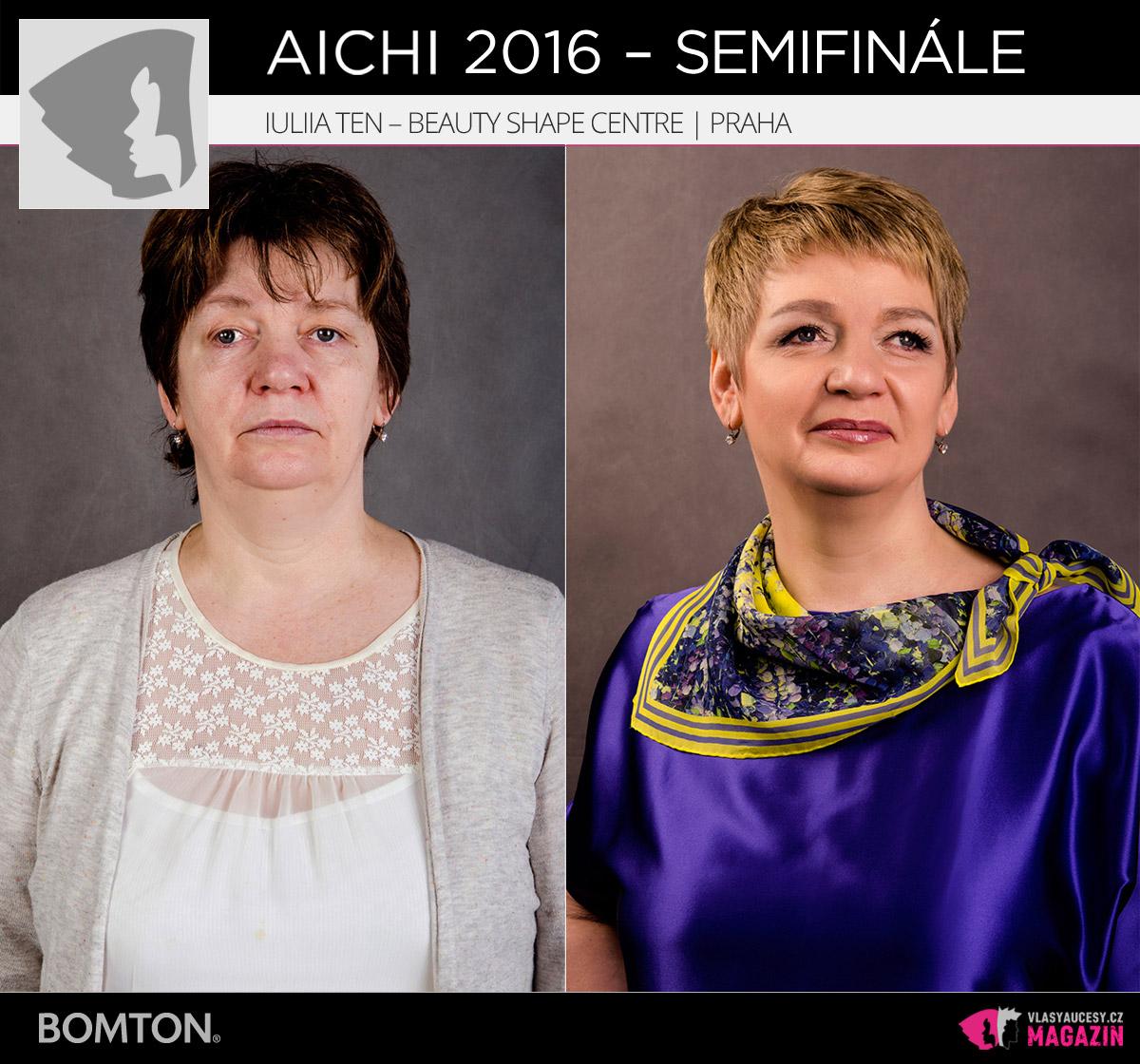Nominační proměna AICHI 2016: Iuliia Ten, Beauty Shape Centre, Praha