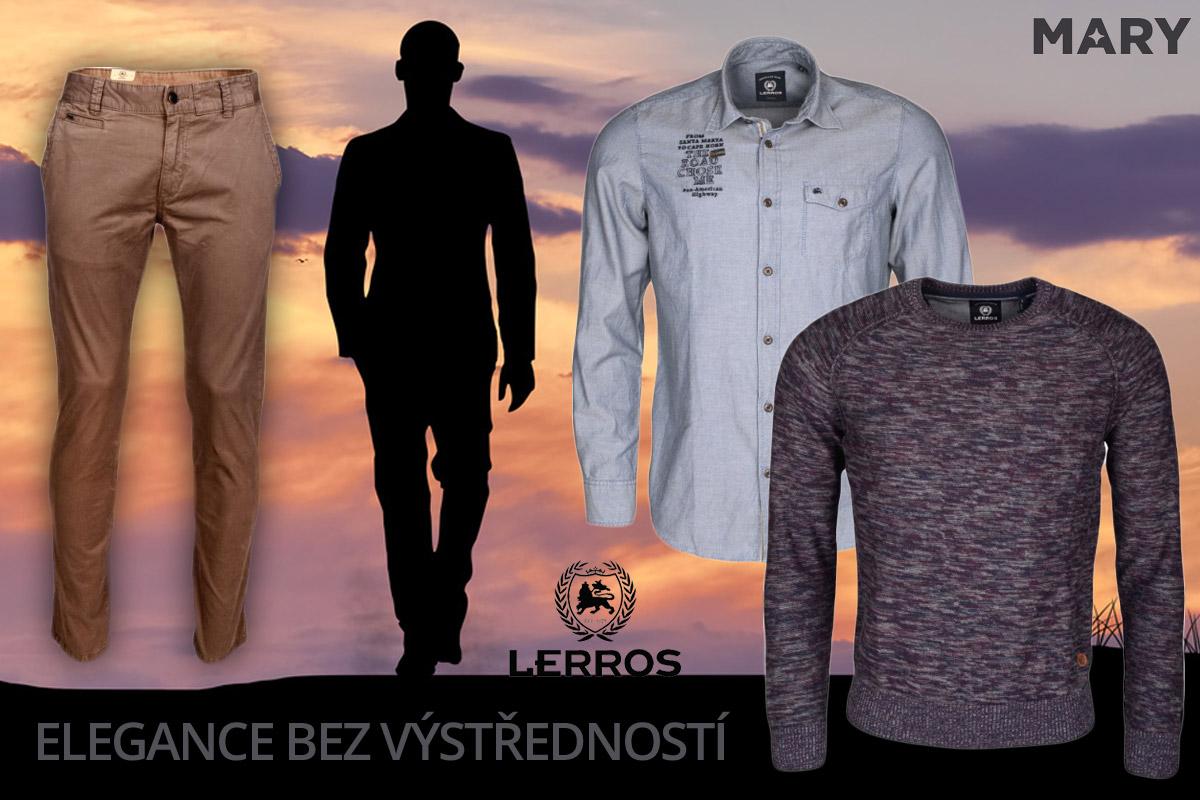 Lerros je sofistikovaná móda bez zbytečných výstředností. (Pánské oblečení na obrázku koupíte v e-shopu Mary-fashion.cz.)