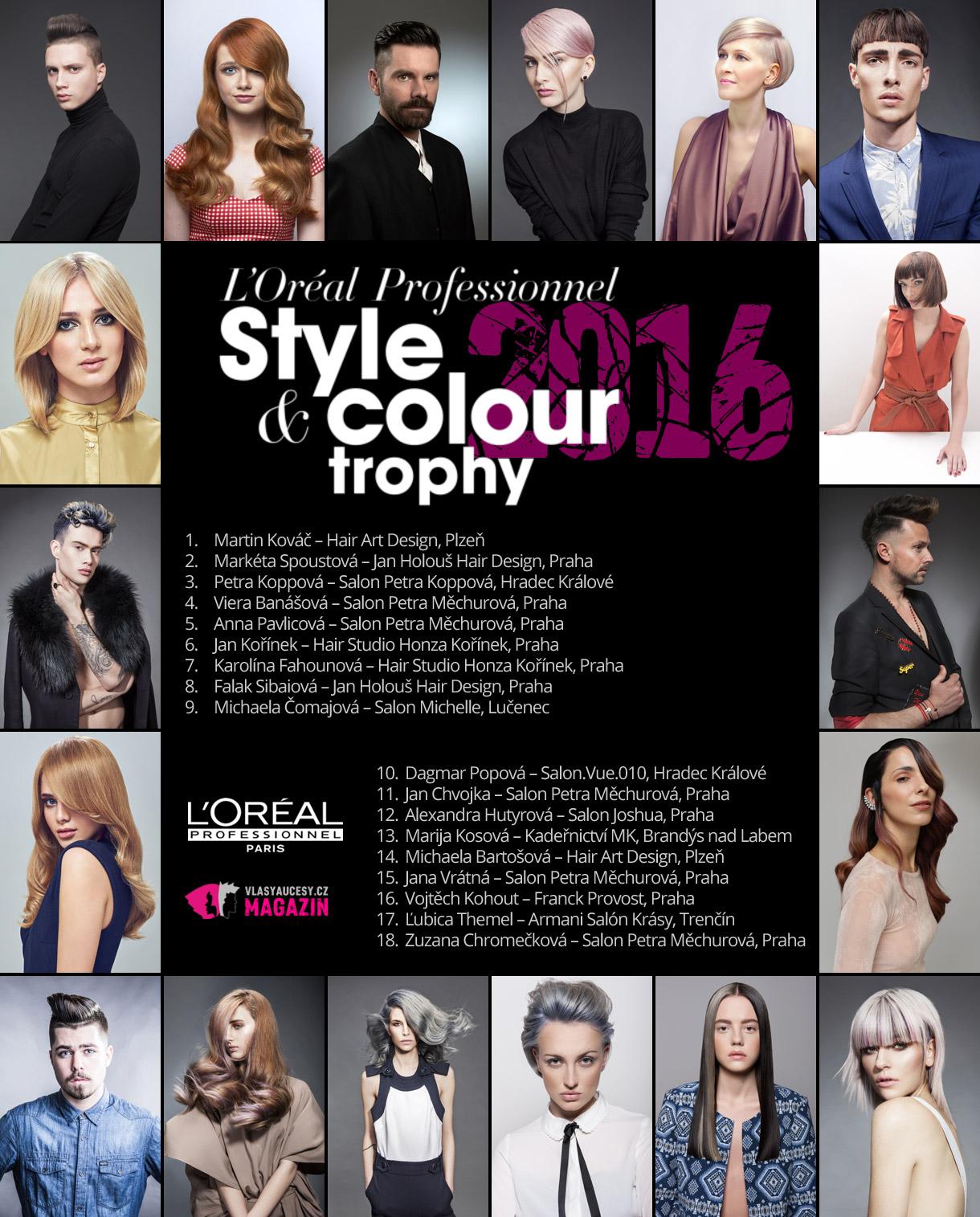 L'Oréal Style & Colour Trophy 2016 jde do finále. Vítězové budou vyhlášeni 27. května 2016 na slavnostním galavečeru v hotelu Clarison v Praze.