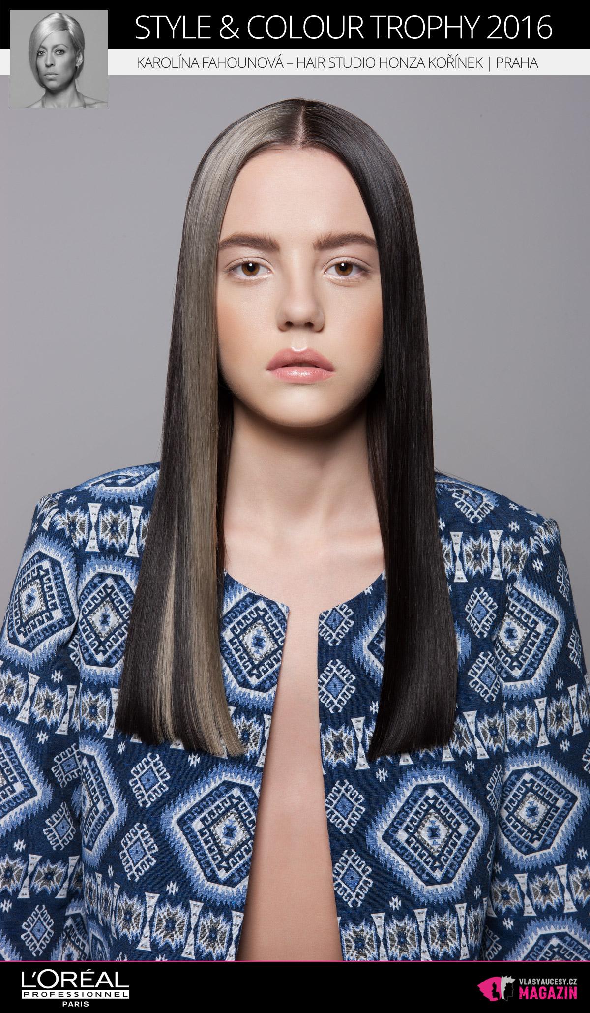 Karolína Fahounová –Hair Studio Honza Kořínek, Praha | L'Oréal Style & Colour Trophy 2016