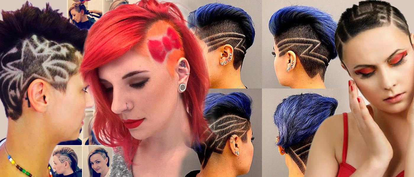 Nebojte se strojku na vlasy ani když nechcete jít dohola. Dámské podholené účesy 2016, nazývané také undercut, teď navíc zdobí tattoo.