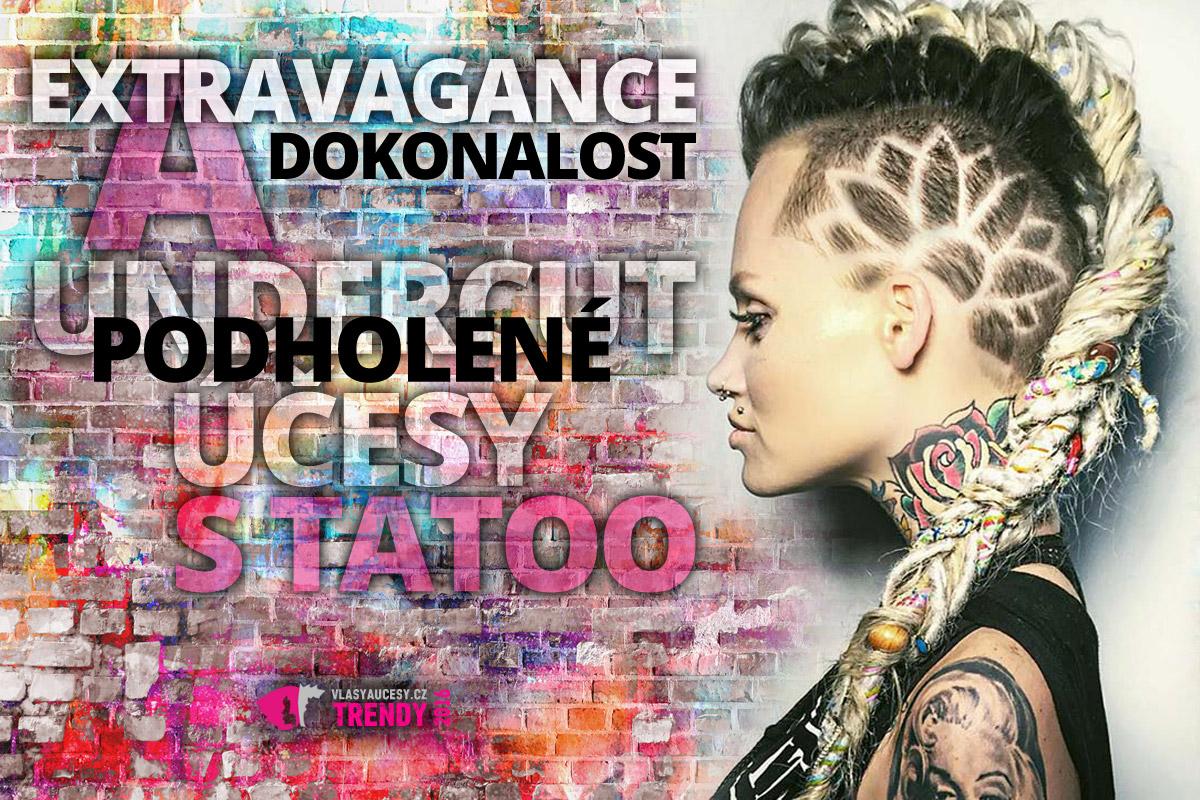 Podholené účesy s tattoo jsou módním hitem sezóny. Sluší krátkým, polodlouhým i dlouhým vlasům. Chce to jen sebrat odvahu a myslet na to, že jsou o něco náročnější na údržbu. Ke kadeřníkovi si prostě budete muset zajít častěji.