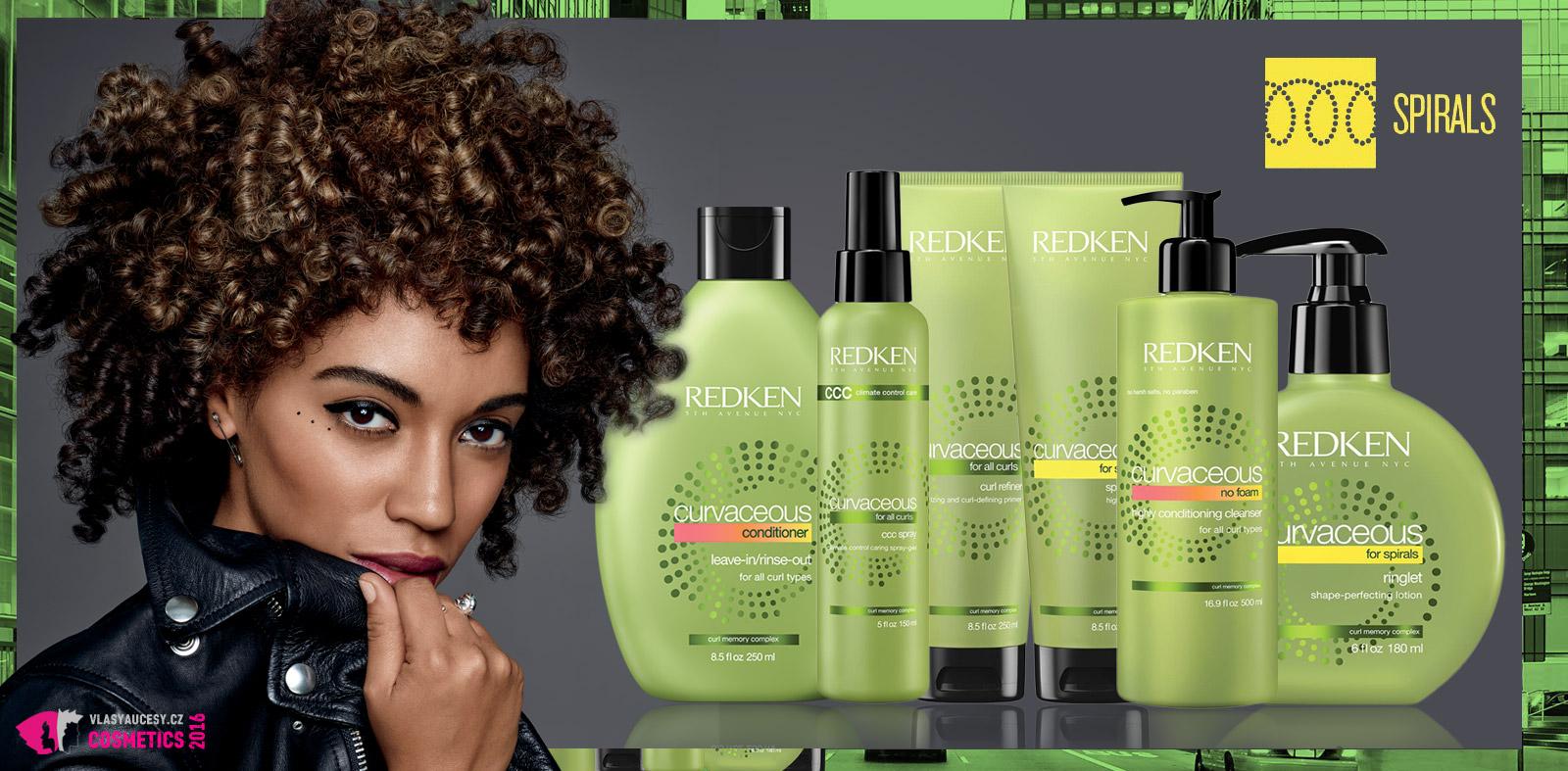 Doporučená vlasová kosmetika z řady Curvaceous pro spirálovité kudrlinky