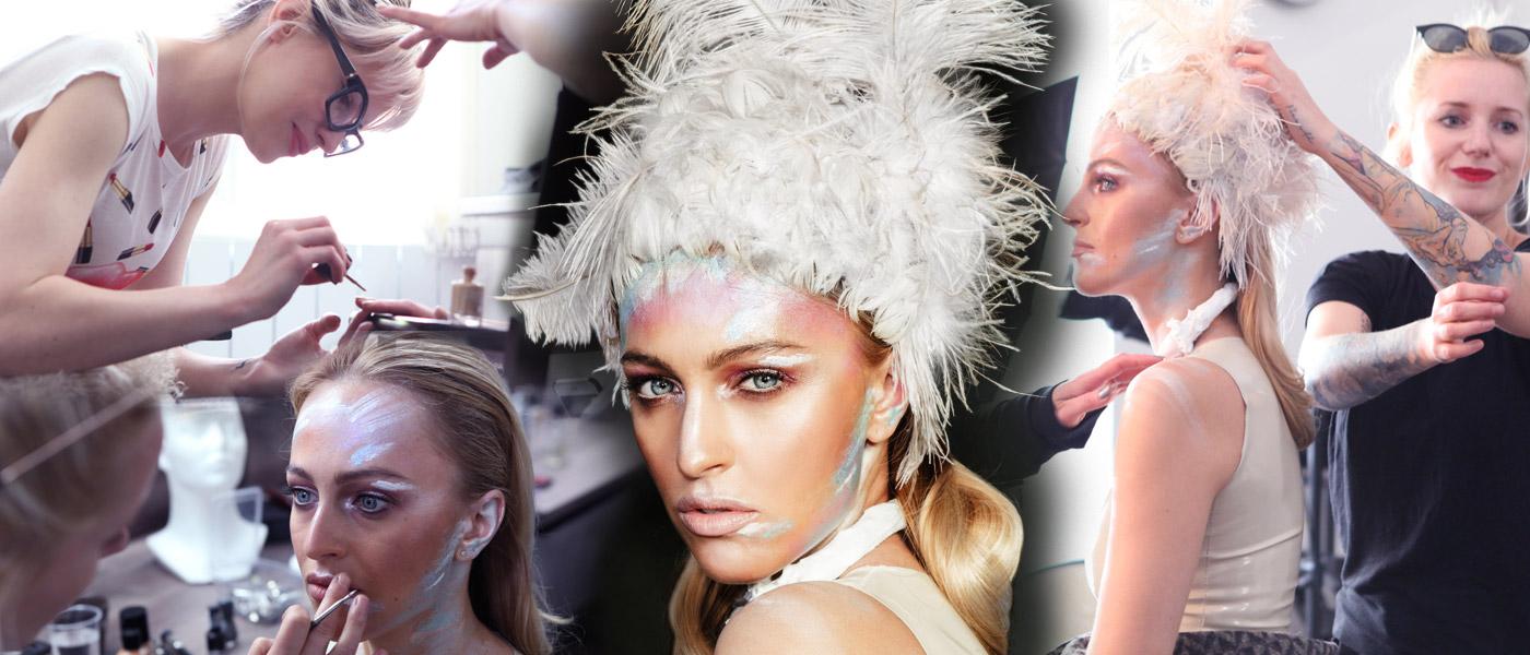 Novou tváří Interbeauty Prague je modelka Renata Langmannová. V Make-up Institute se fotil nový vizuál pro podzimní část veletrhu.