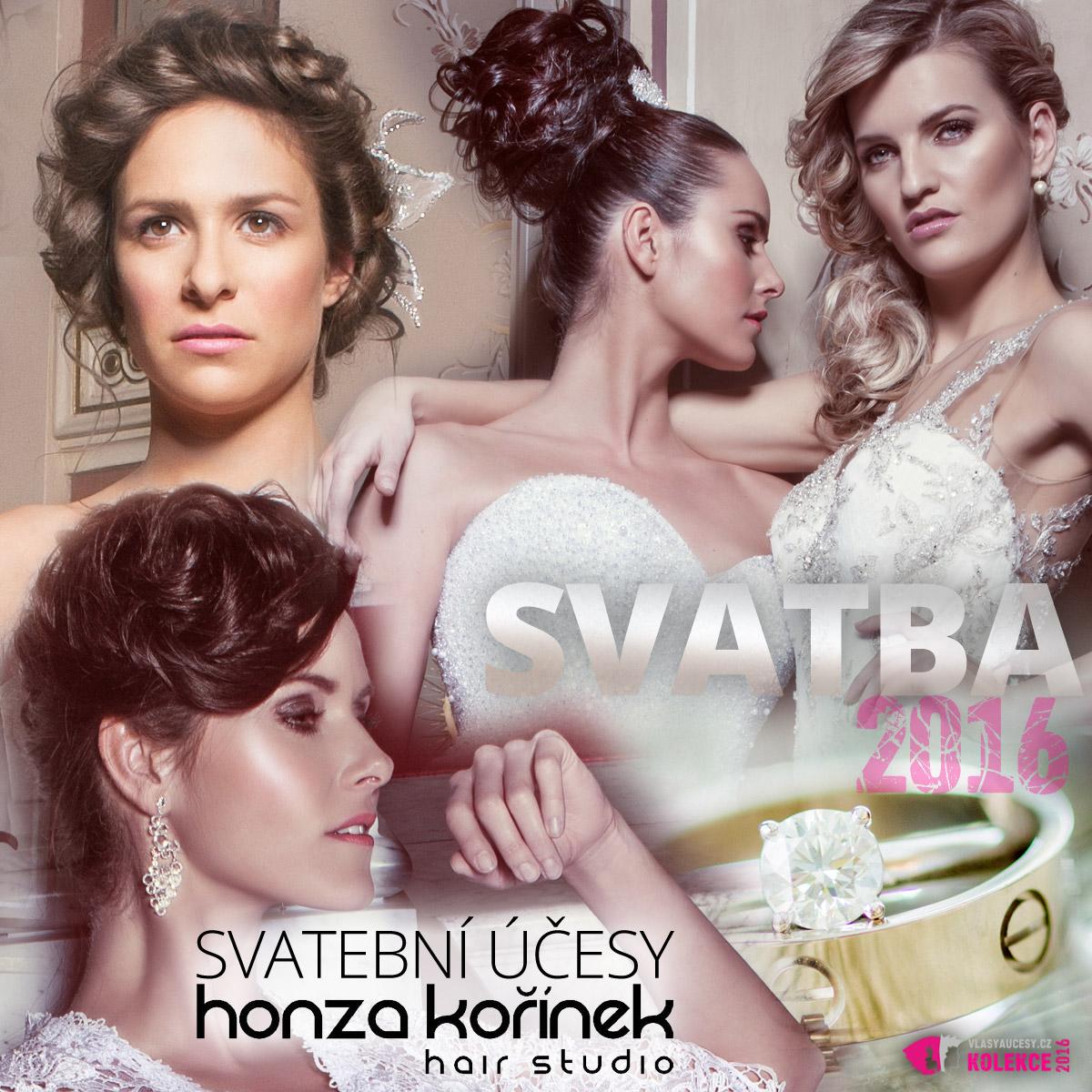 Tvářemi kolekce svatebních účesů The BRIDES 2016 se staly moderátorky Renáta Czadernová, herečka Veronika Kubařová a modelka Veronika Procházková Chmelířová.