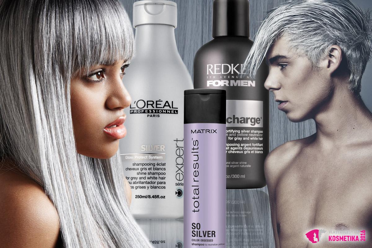 Stříbrný šampon je základ pro mytí vlasů v šedých a stříbrných odstínech. Stejně tak pro mytí bílých vlasů. Díky němu nebudou vlasy žloutnout a chytat teplé tóny. S nimi totiž vypadají staře a nezdravě.