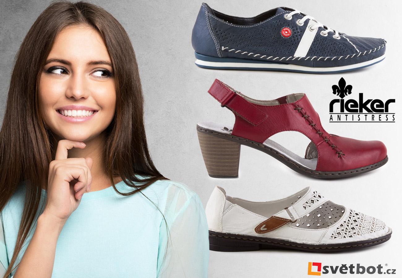 Dámské boty Rieker to jsou pohodlné lodičky, sandály i dámské tenisky. Sortiment na obrázku je z jarní a letní kolekce 2016 a koupíte jej v e-shopu Svetbot.cz.