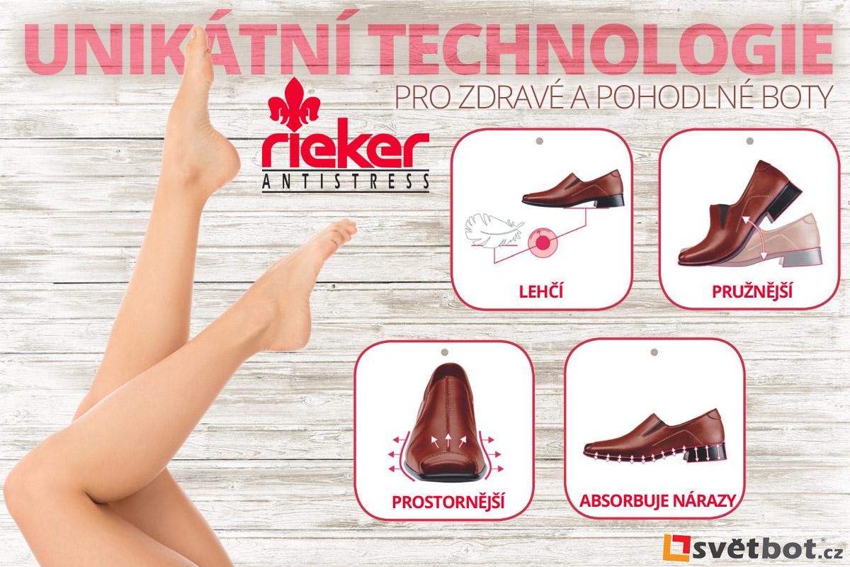 Rieker Antistress je unikátní technologie pro zdravé a pohodlné boty.