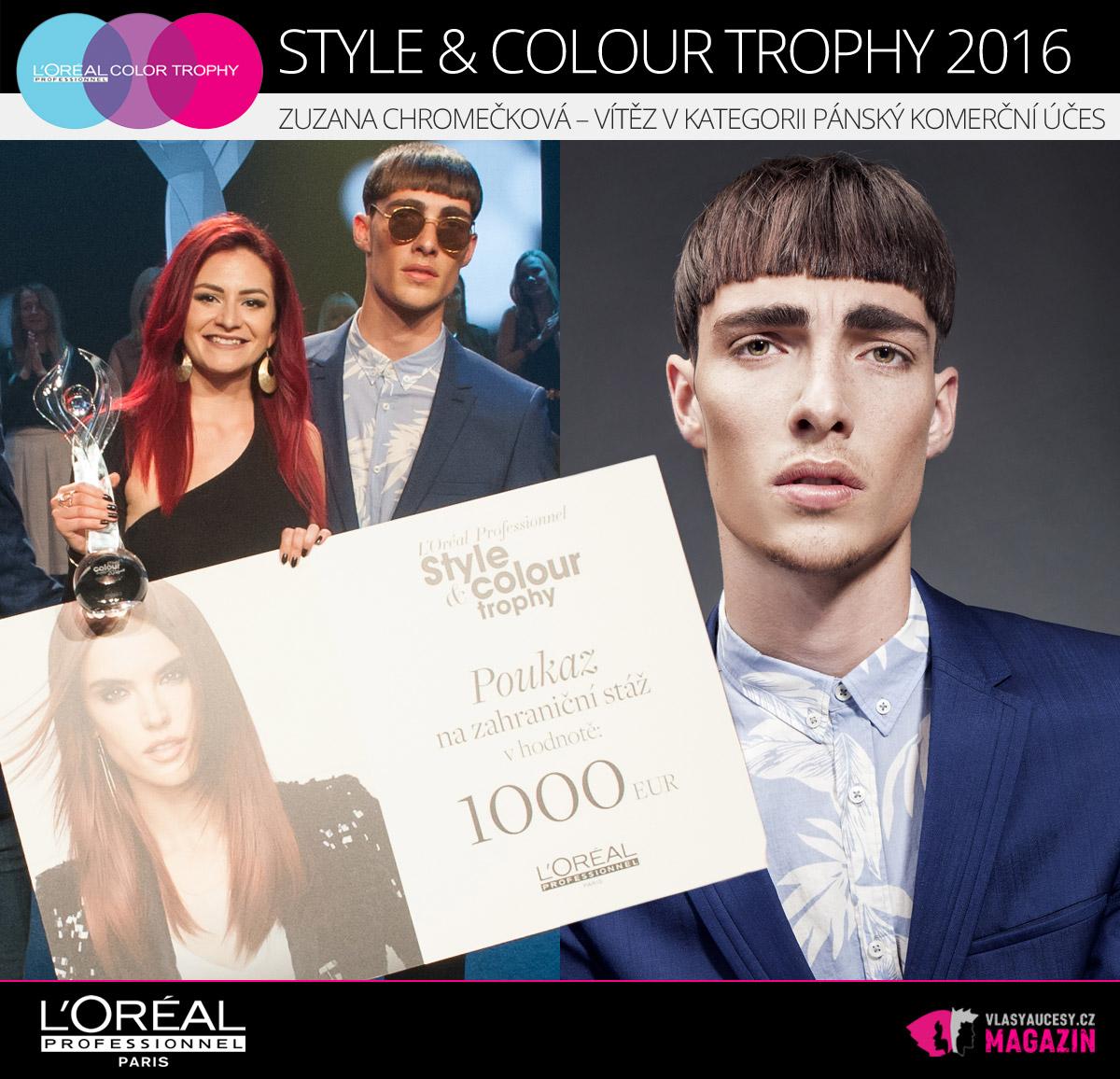 V pánských účesech zvítězila Zuzana Chromečková, která nám sdělila, že její inspirací jsou hlavně fashion weeky a móda v zahraničí.