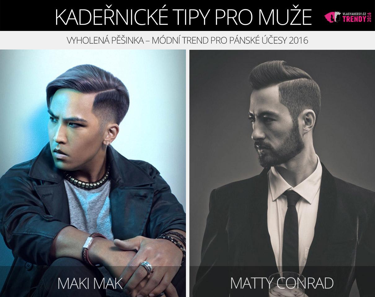 Vyholená pěšinka v účesech Maki Mak a Matty Conrad nominované v soutěži Canadian Hairdressing Awards – Contessa 2016.