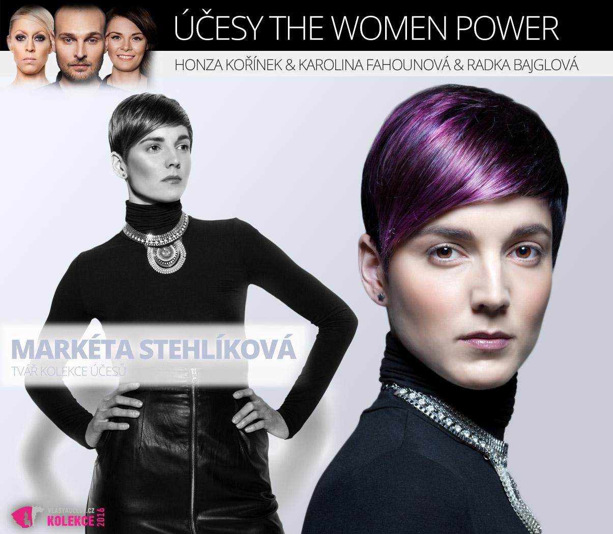 Tvář kolekce účesů The Women Power by Honza Kořínek: Markéta Stehlíková