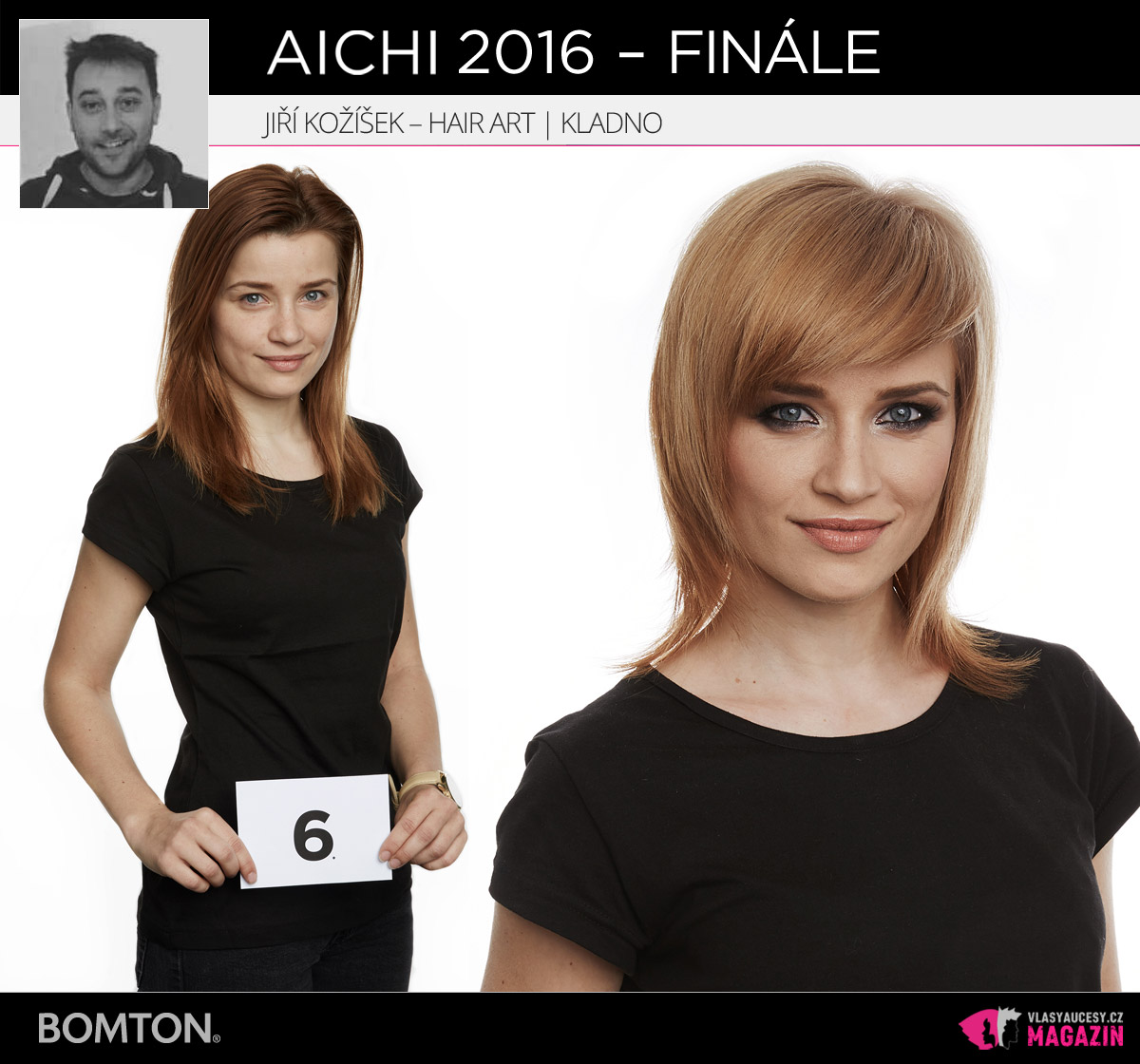 Semifinálová proměna AICHI 2016: Jiří Kožíšek, Hair Art Jiří Kožíšek, Kladno