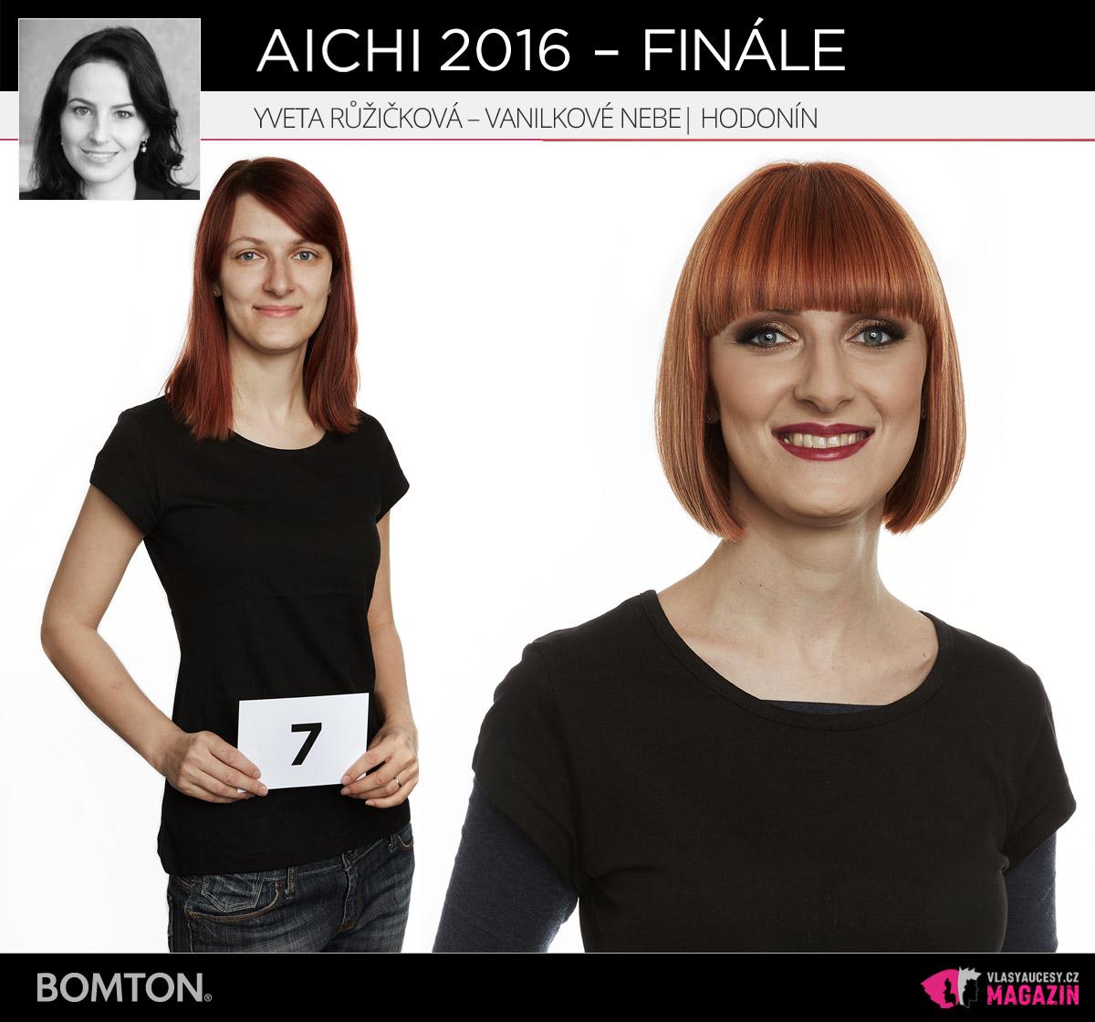 Semifinálová proměna AICHI 2016: Yveta Růžičková, Vanilkové Nebe, Hodonín