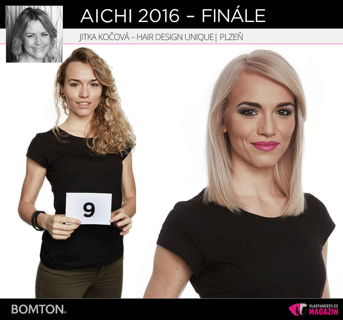 Jitka Kočová – Hair Design Unique, Plzeň | Proměny AICHI 2016 – postupující do finálového kola