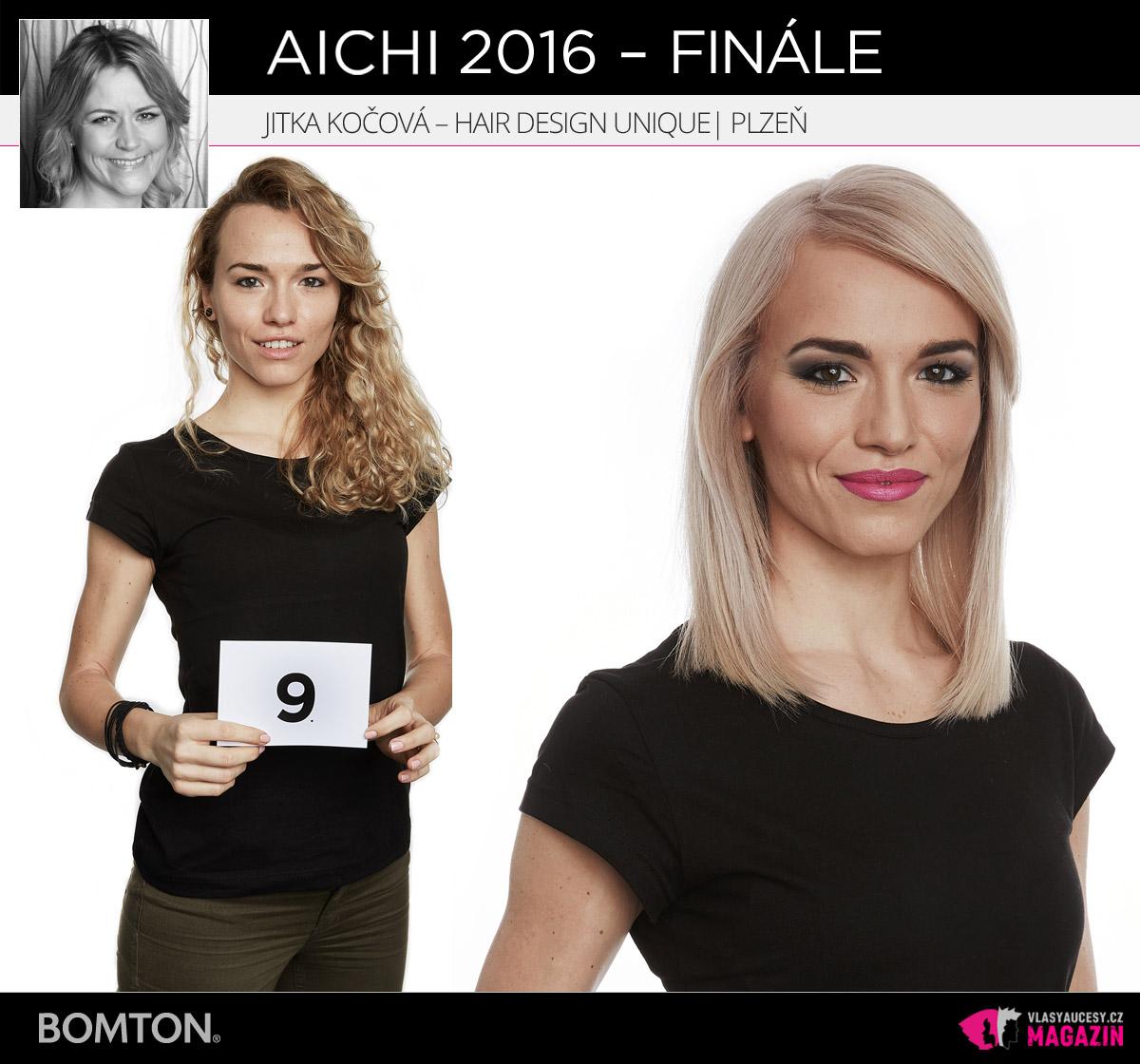 Semifinálová proměna AICHI 2016: Jitka Kočová, Hair Design Unique, Plzeň