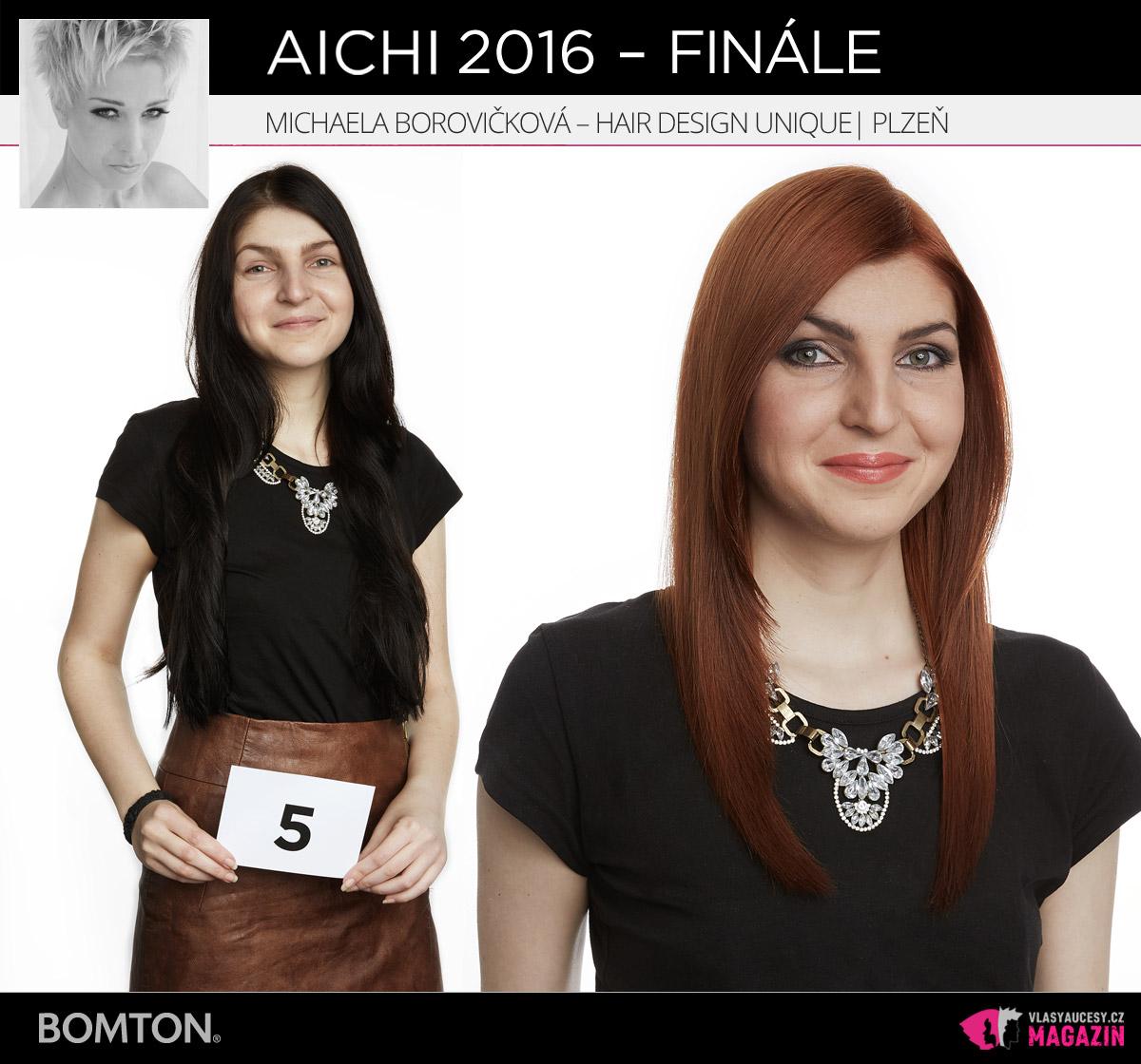 Michaela Borovičková –Hair Design Unique, Plzeň | Proměny AICHI 2016 – postupující do finálového kola
