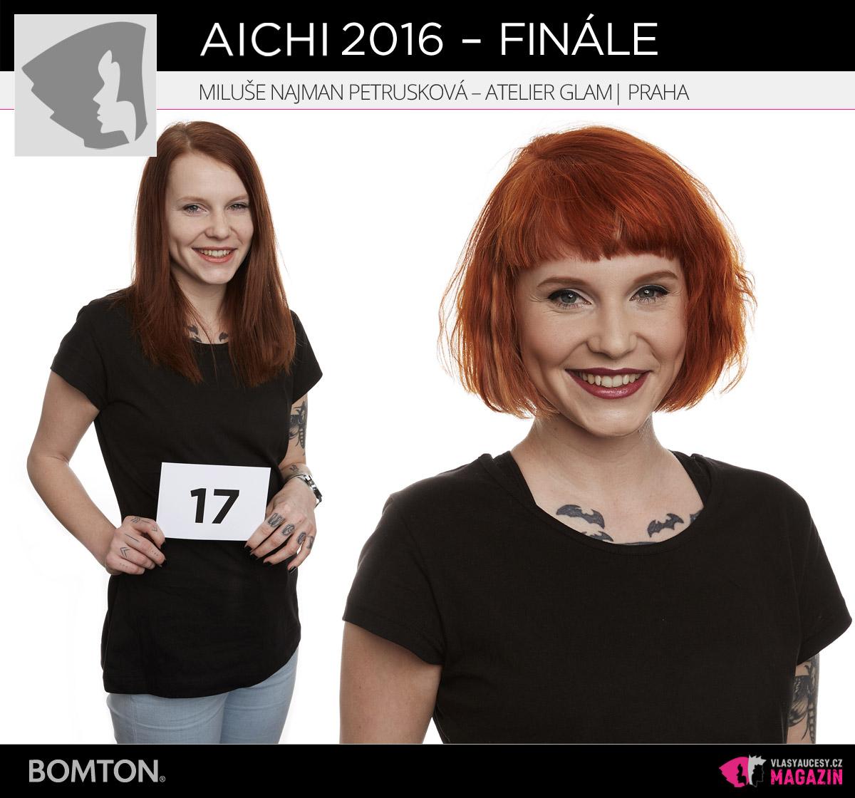 Semifinálová proměna AICHI 2016: Miluše Najman Petrušková, Atelier Glam, Praha