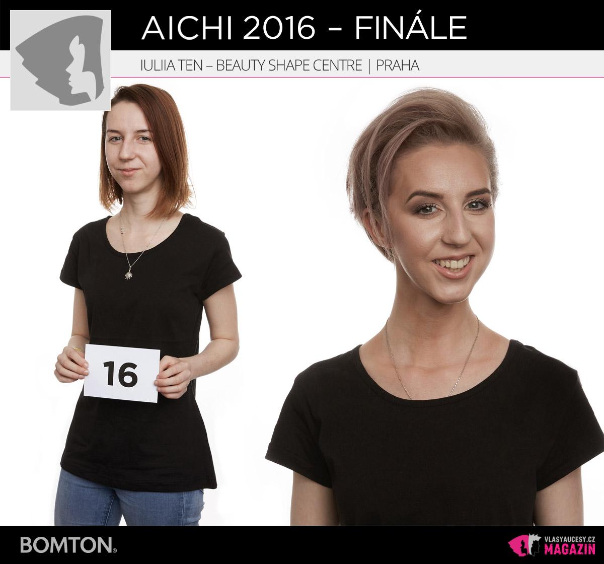 Semifinálová proměna AICHI 2016: Iuliia Ten, Beauty Shape Centre, Praha