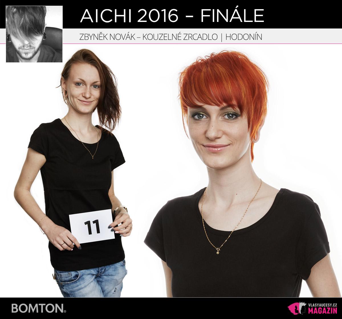 Semifinálová proměna AICHI 2016: Zbyněk Novák, kadeřnictví Kouzelné zrcadlo, Hodonín