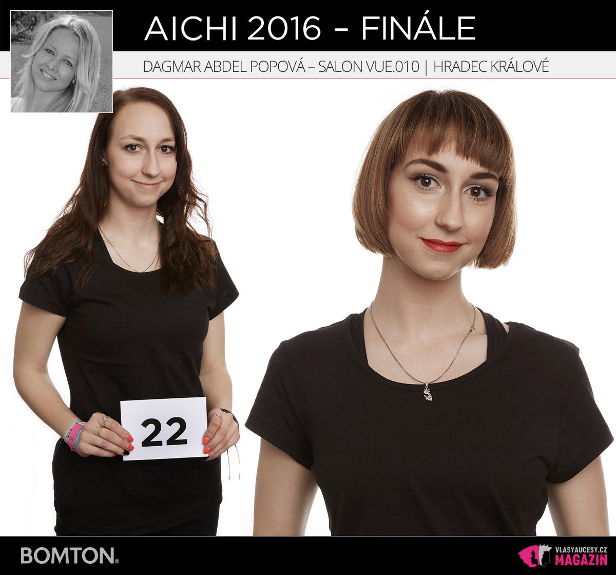 Semifinálová proměna AICHI 2016: Dagmar Abdel Popová, Salon VUE.010, Hradec Králové