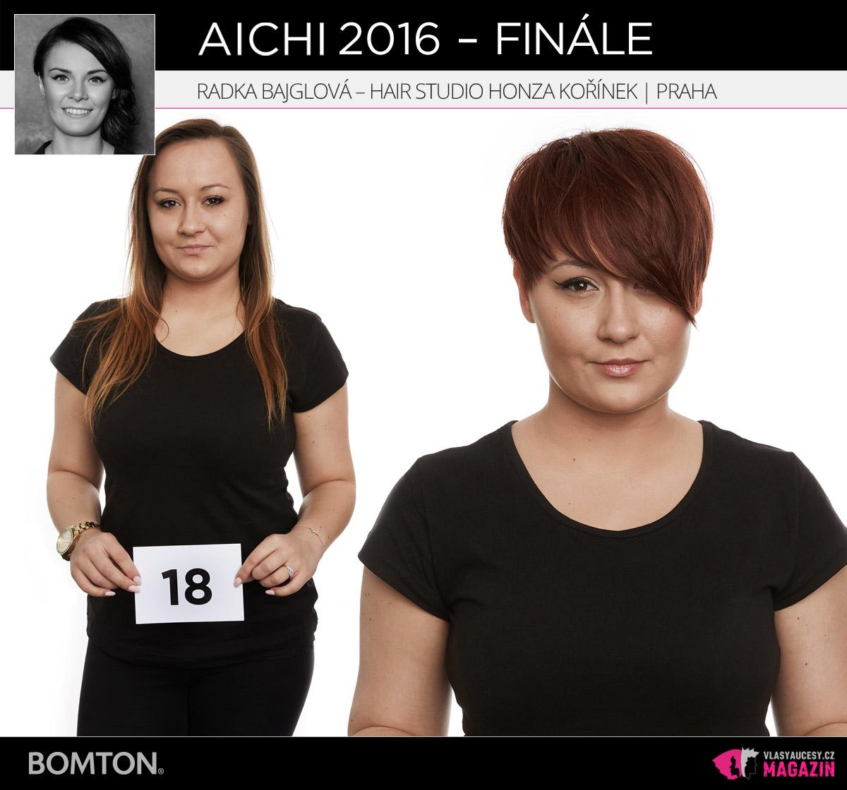 Semifinálová proměna AICHI 2016: Radka Bajglová, Hair studio Honza Kořínek, Praha