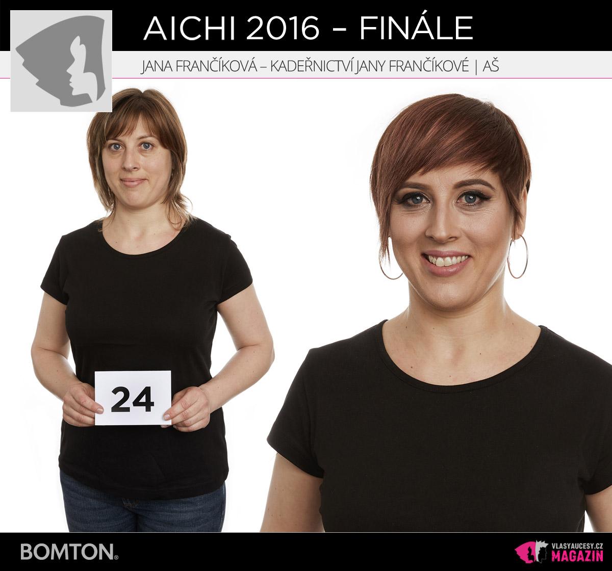 Semifinálová proměna AICHI 2016: Jana Frančíková, Kadeřnictví Jany Frančíkové, Aš