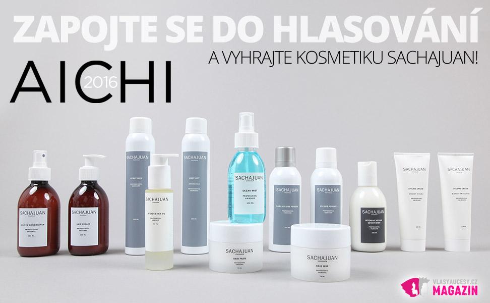 Vyhrajte balíček s kosmetikou Sachajuan. Z těchto produktů třem z vás namixuje organizátor soutěže AICHI 2016, společnost Bomton studia, dárkový balíček unikátní švédské vlasové kosmetiky Sachajuan.