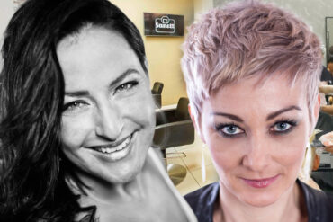 Eva Komínková provozuje velice úspěšně pražský salon Sanett v Dejvicích a sama i s týmem spolupracovníků nechybí v žádných kadeřnických soutěžích.