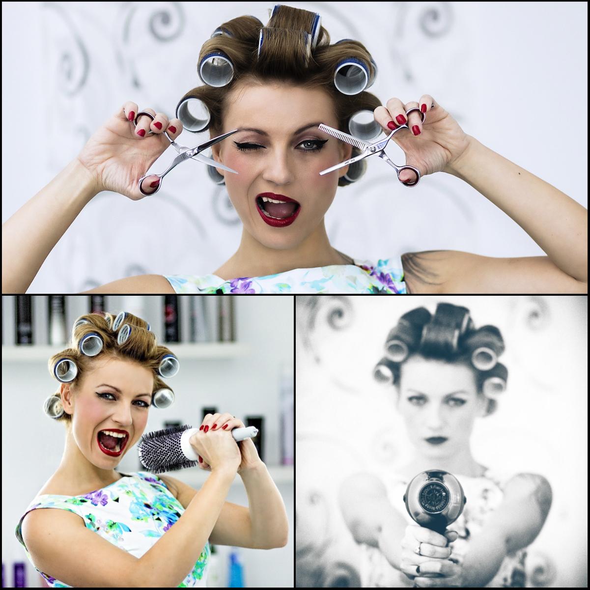 Eva se dokáže také dokonale odvázat, což dokázala na svých úžasných fotkách k propagaci svého salónu Hair Salon Renesance.