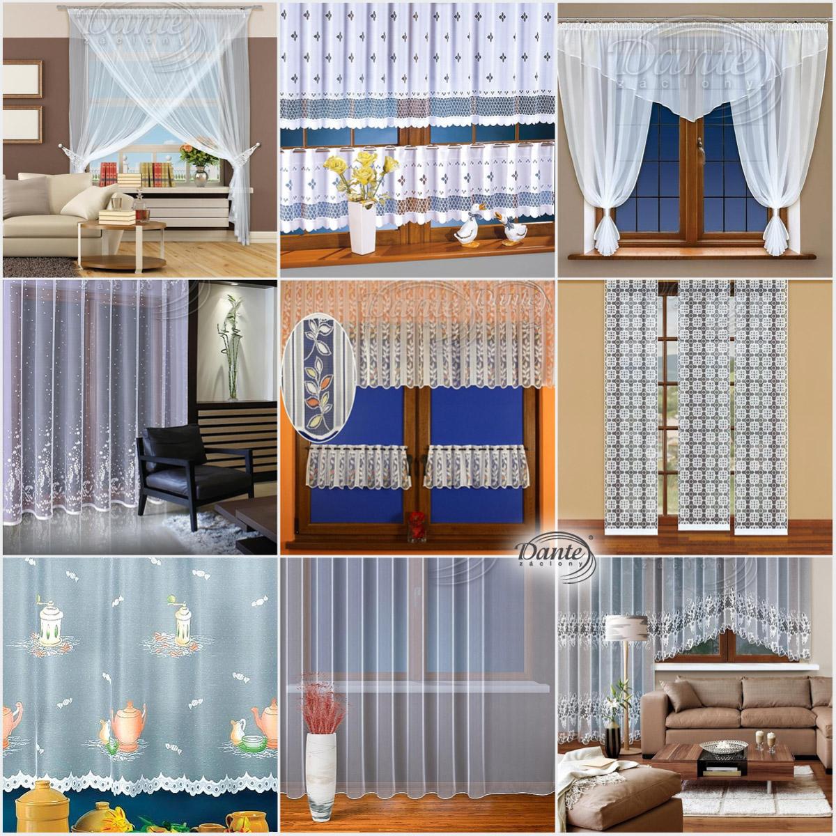 Záclony se hodí do tradičního i moderního interiéru.
