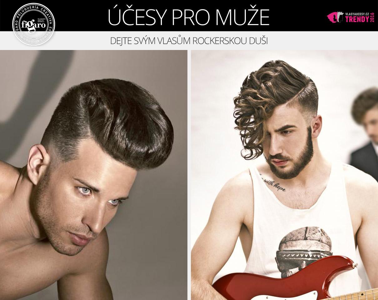 Dejte svým vlasům rockerskou duši. (Účesy pro muže: 2016 Fígaro Awards.)