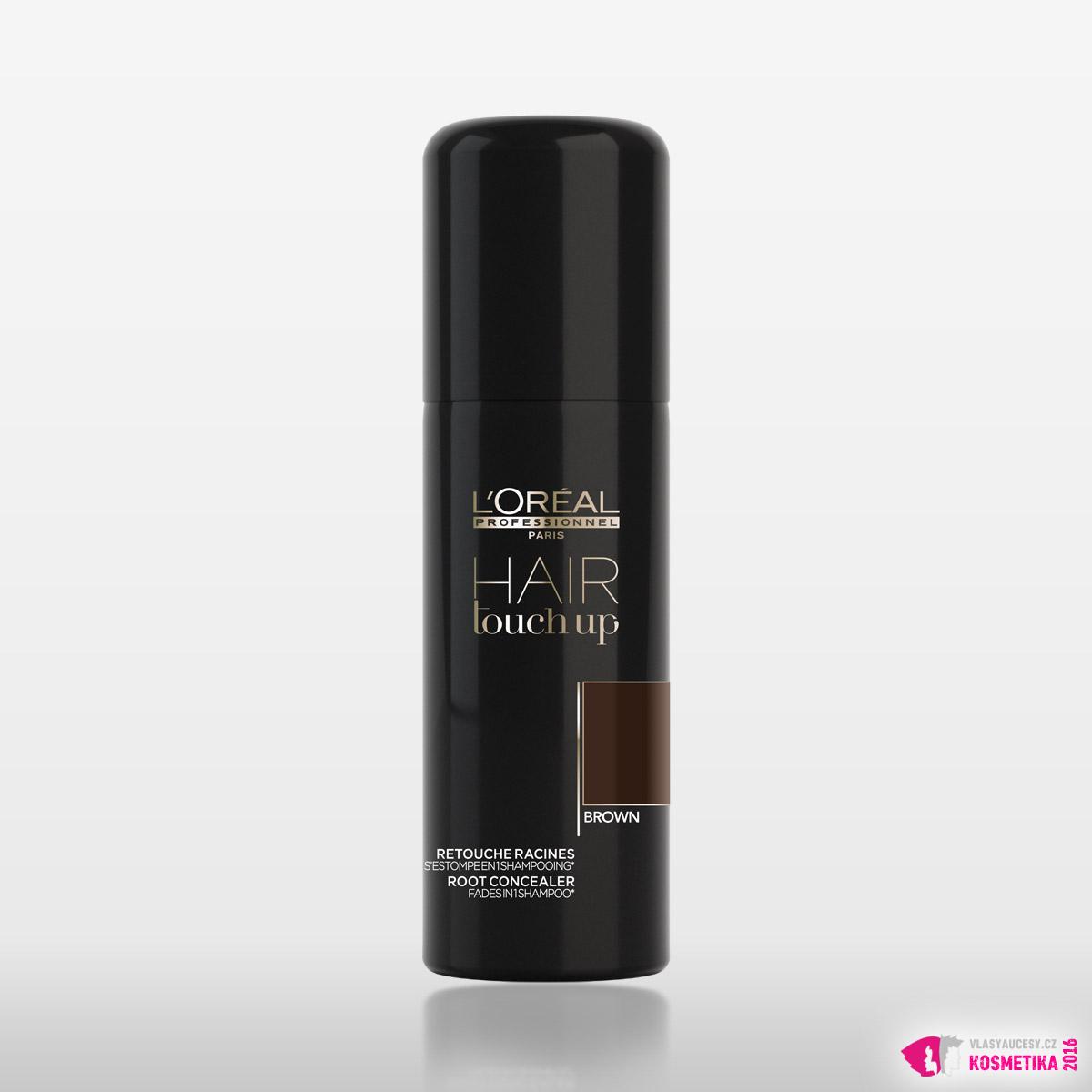 Krycí sprej na odrosty Hair Touch Up v hnědé barvě